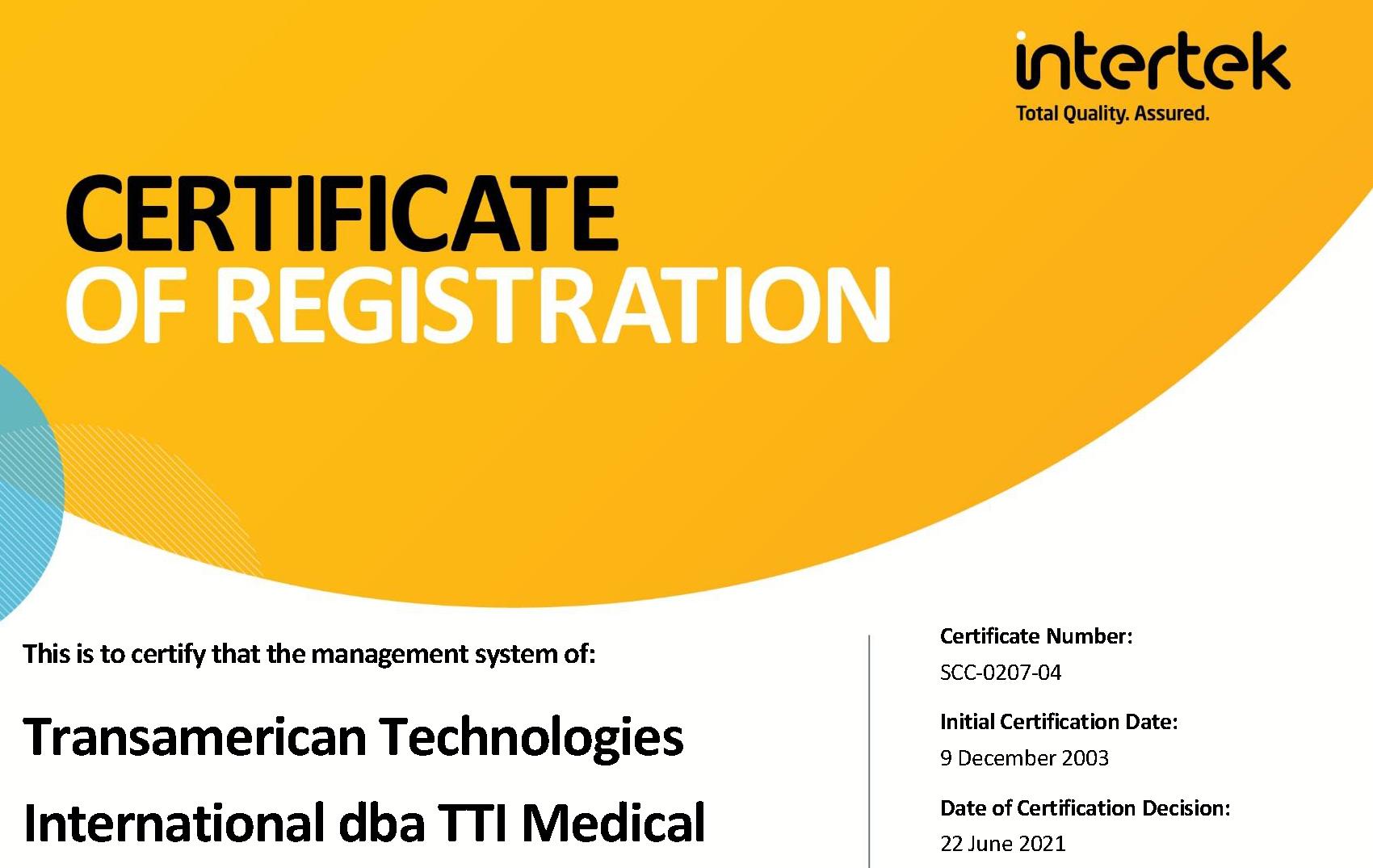 Intertek ISO 13485 2021