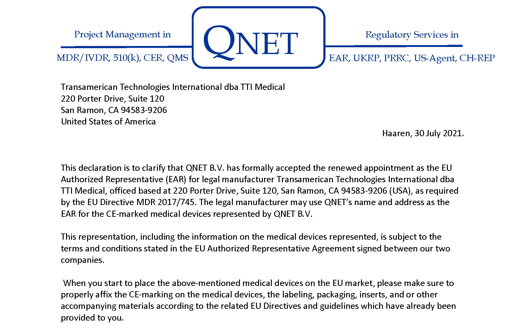 QNET MDR Auth Rep 2021